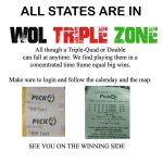 WOL Triple Zone Lottery Tickets