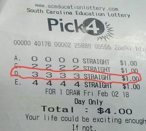 Wol 3333 winning lottery tickets