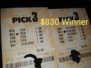 Wol 830 winning lottery tickets