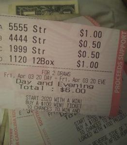 Wol winning lottery tickets